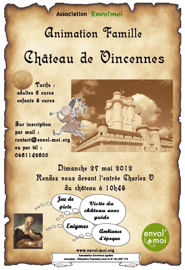 château de vincennes tarifs