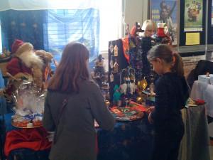 Le stand de l'association au marché de Noël de l'Orangerie