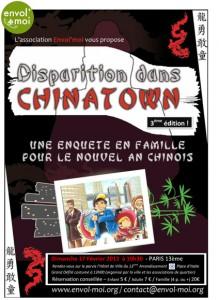 Affiche du jeu de piste du Nouvel An Chinois 2013