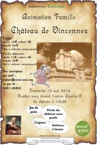 Affiche de l'animation Visite guidée du Château de Vincennes 2013