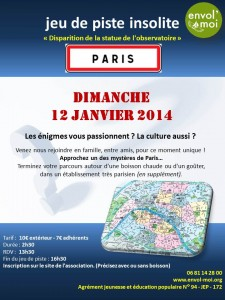Jeu de piste dans Paris janvier 2014